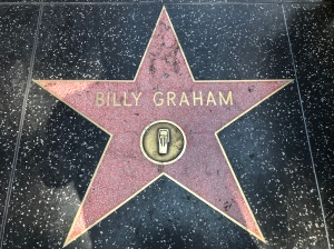 Billy Graham's star on the Hollywood Walk of Fame