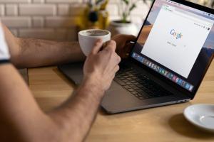 SEO expert using laptop